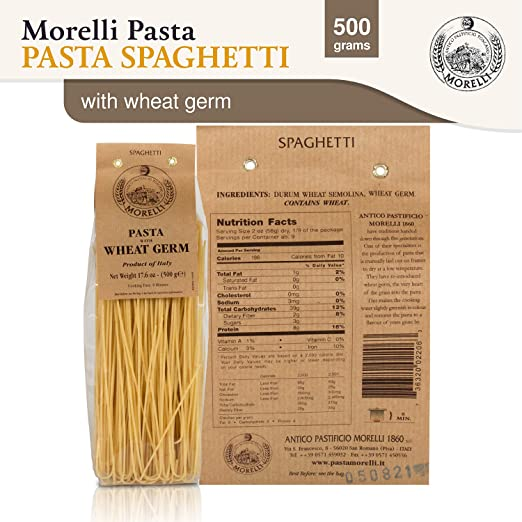 Amazon Com Morelli Pasta Spaghetti With Wheat Germ Imported From