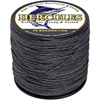 Hercules Cost-Effective Super Cast 8 Strands Braided Fishing Line 10LB to 300LB Test for Salt-Water, 109 Yards 100M, Diam.#0.12MM-1.2MM, Hi-Grade Performance, Variety Colors
