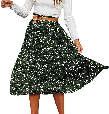 FELZ Falda Mujer Corta Falda Mujer Fiesta Falda de Las Mujeres de ...