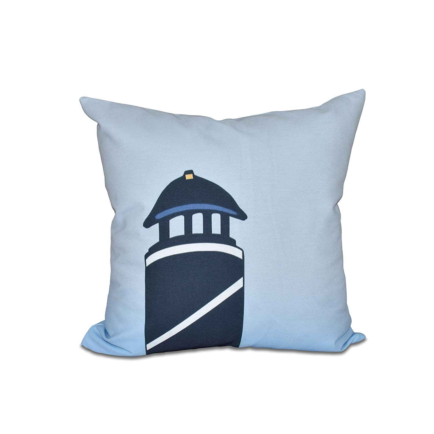 Navy Blue Geometric Print Pillow Safe Harbor E by design 16 x 16-inch Navy one