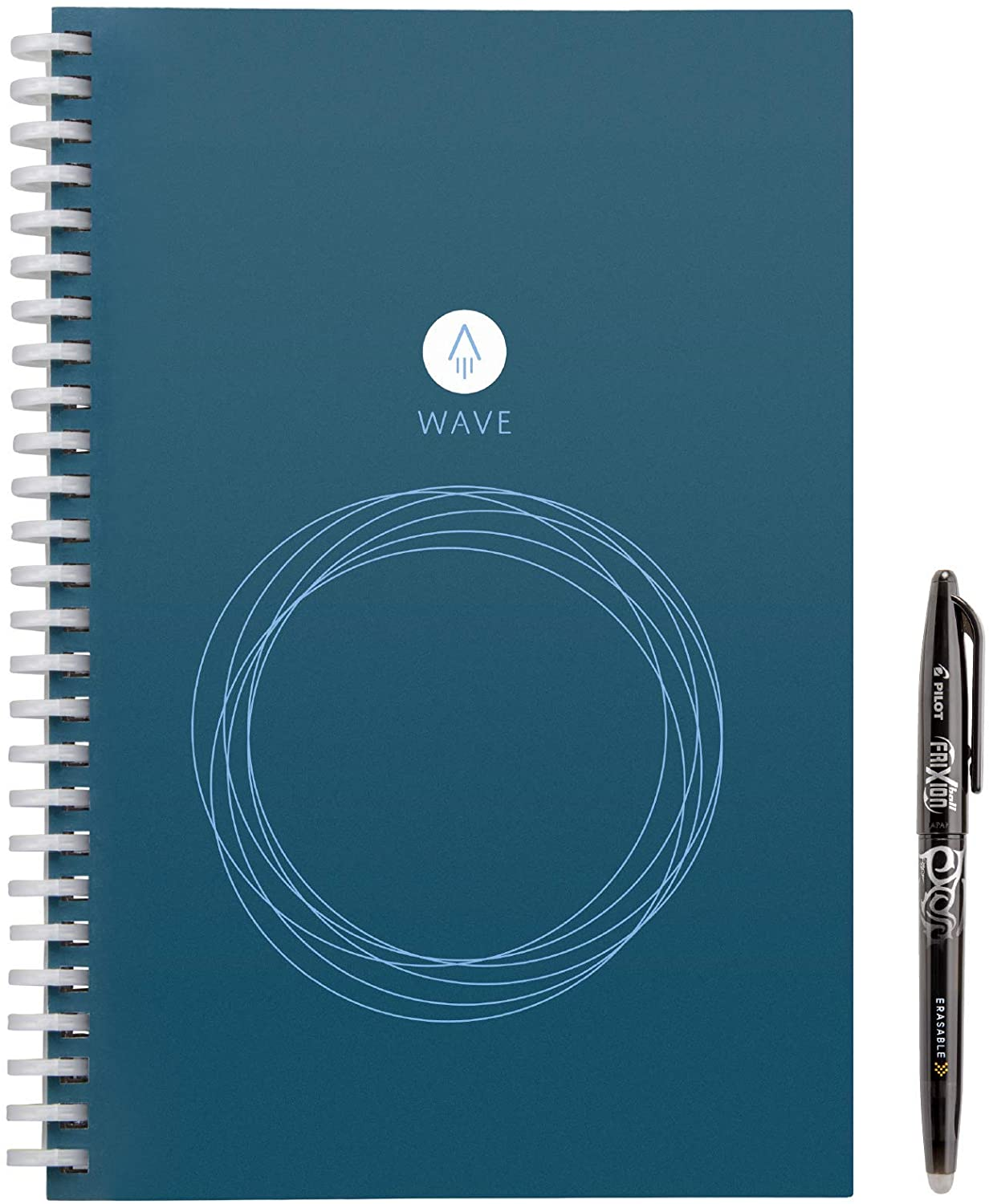 """Rocketbook Wave Smart Notebook - Dotted Grid Eco-Friendly Notebook with 1 Pilot Frixion Pen Included - Executive Size (6"""" x 8.8"""")"""