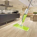 Veronica Floor Spray Mop Microfiber Soft Cleaning Pad Cloth,360 Degree Professional Handle Mop,Home Kitchen Hardwood Laminate Wood Ceramic Tile Cleaning Tool