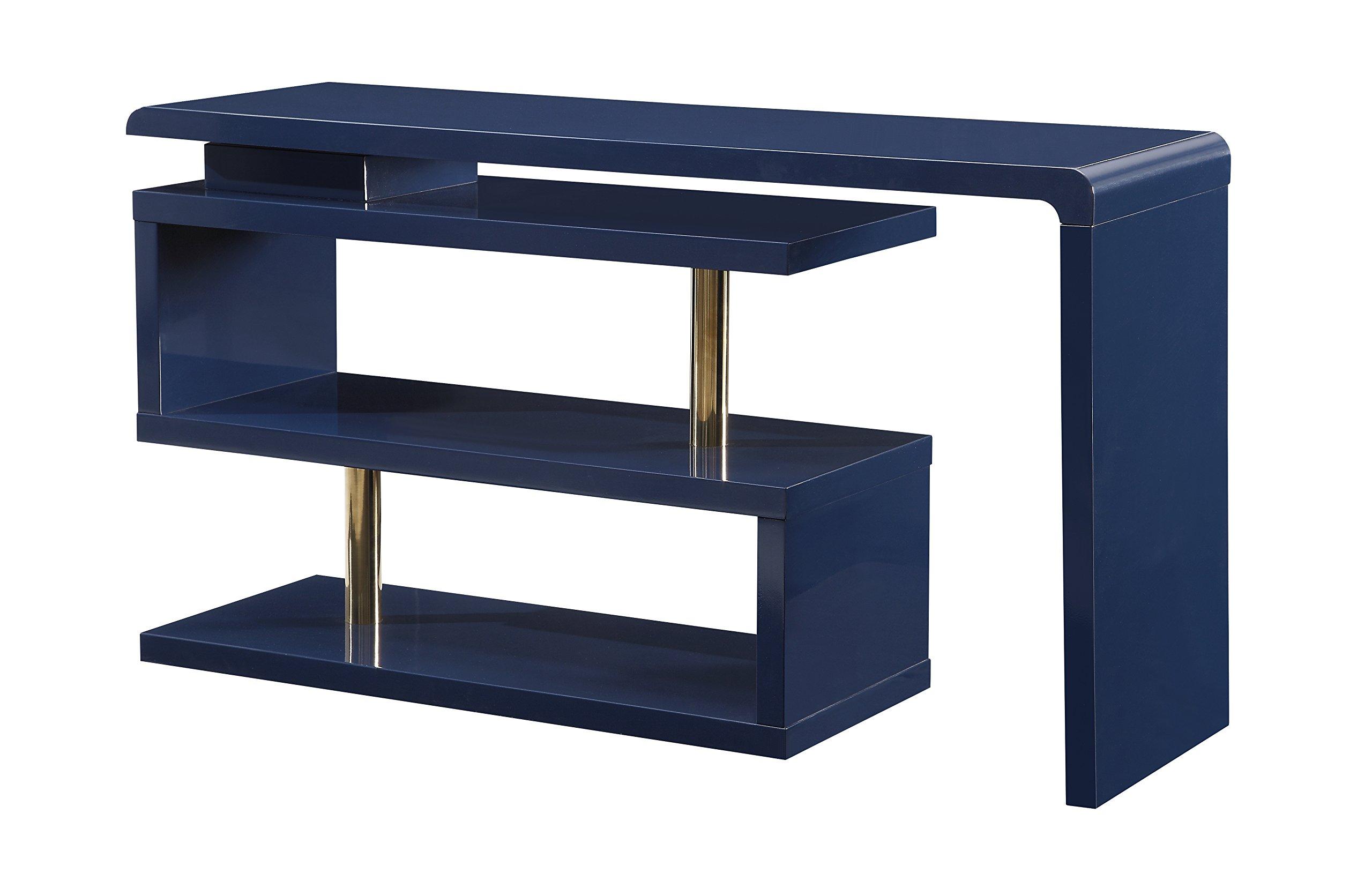 Treasure Trove 17271 Adjustable Desk/ Media Console, Blue