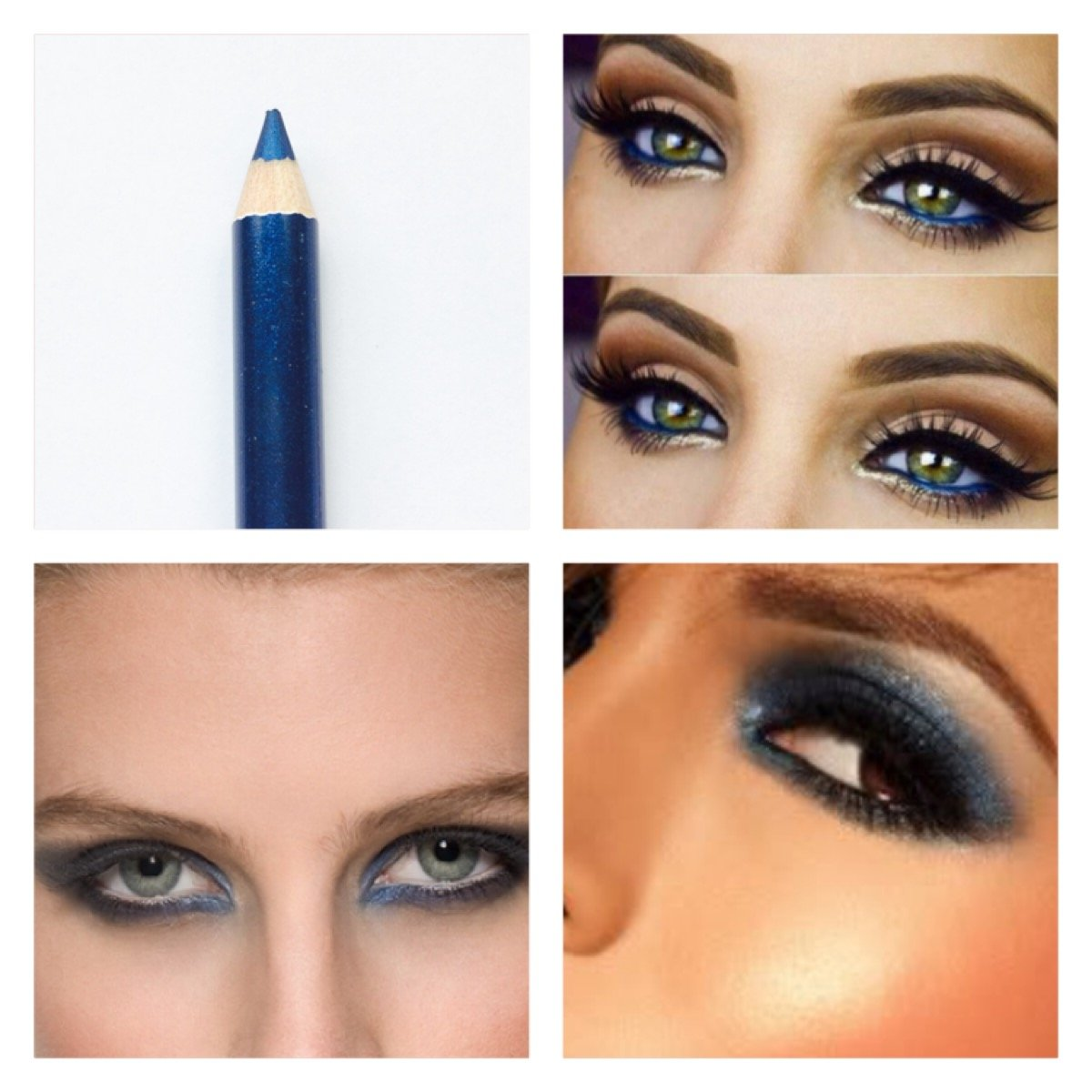 Blue Royal Lip Eye Pencil Makeup Liner Smudge Smokey Spring Trend 1pc Just Crystals Boutique