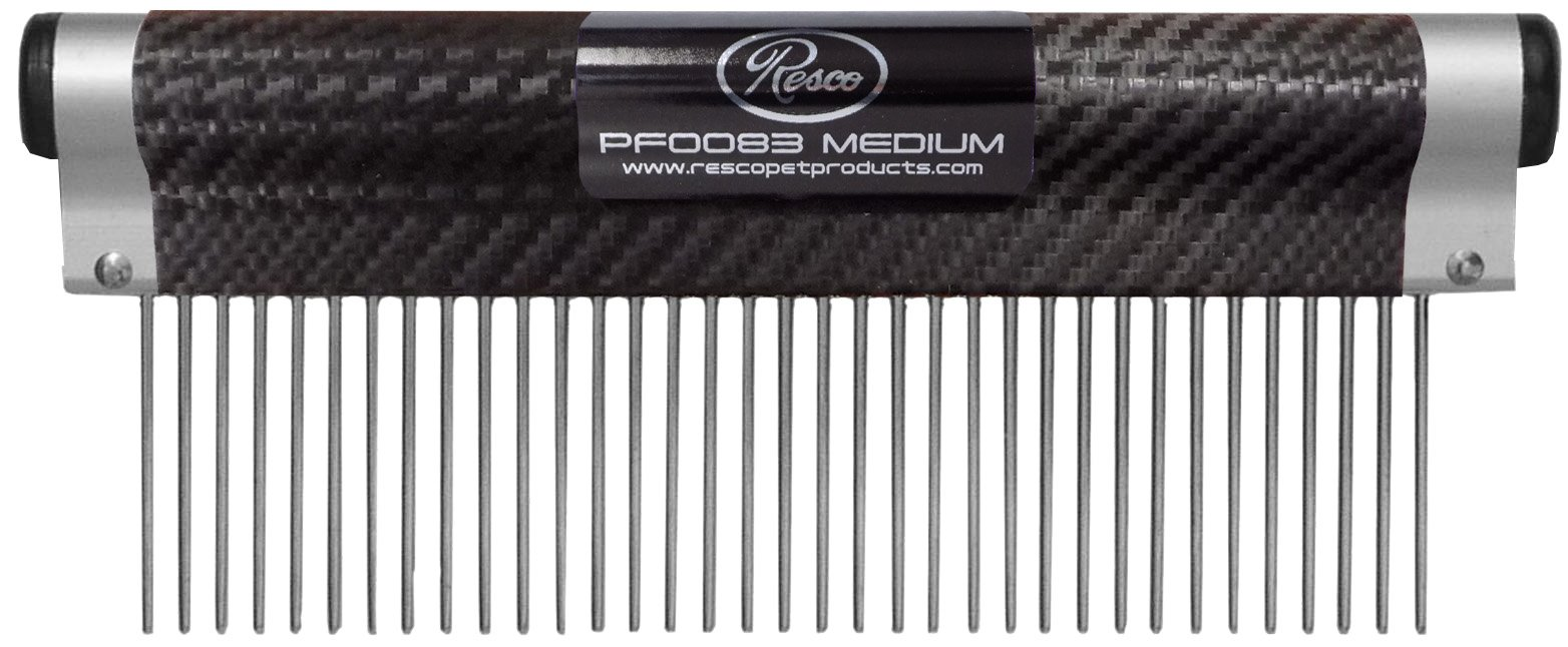 Resco USA-MADE Wrap Comb for Pets, Medium, Carbon Fiber