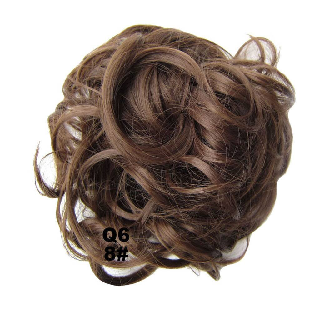 PrettyWit Hair Bun Updo Extensions Chignons Hair Piece Wig Scrunchy Scrunchie Hairpiece Ribbon Ponytail Bridal Drawstring-Pale Golden Blonde & Bleach Blonde M24/613