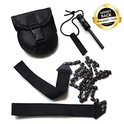 Helpful Portable Survival Chain Saw Chainsaw Emergency Camping Pocket Hand Tool Pouch A Great Variety Of Goods Tool Parts