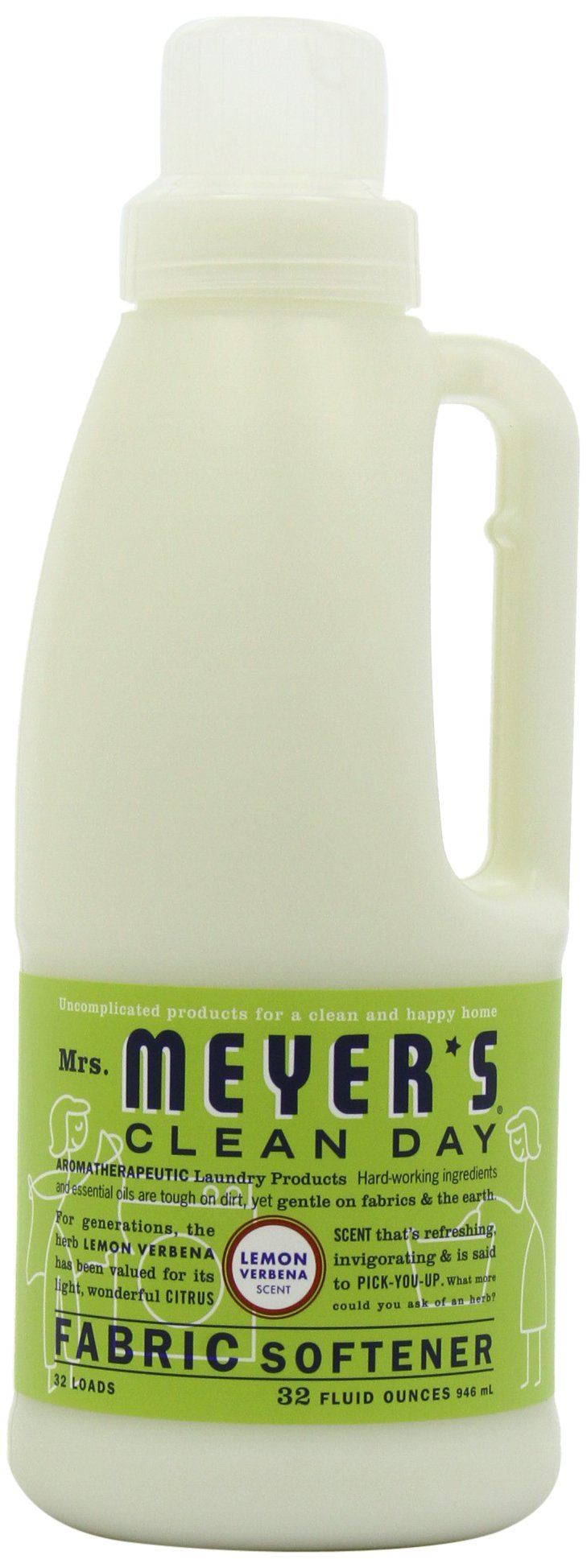 Mrs. Meyer's Clean Day Fabric Softener, Lemon Verbena, 32-Ounce Bottles (Case of 6)
