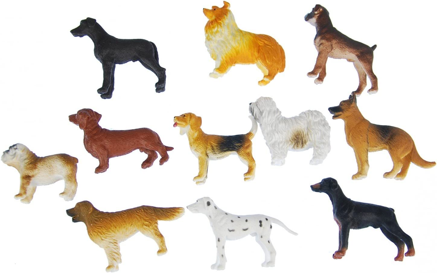 Miniblings 10X Dogs Toy Figures Figurines Pet Dog Significant Mix