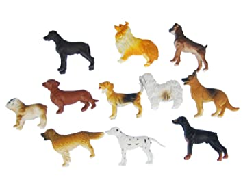 Toys & Hobbies 10x Hunde Aufstellfigur Miniblings Gummitier Haustier Hund Set Tiere Tierset Mix