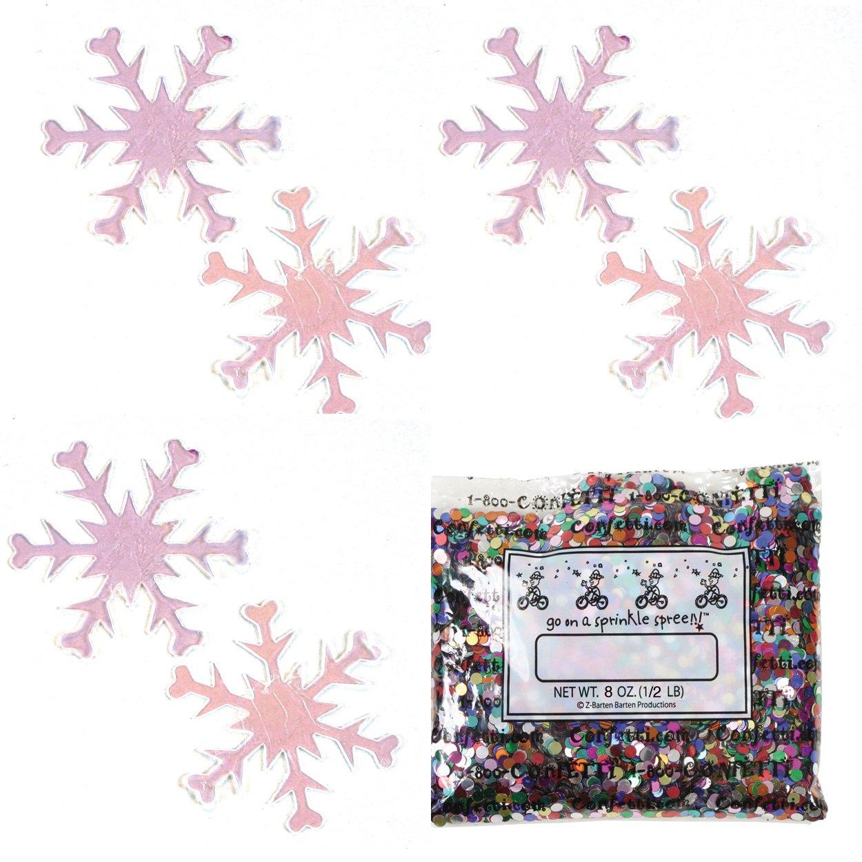 Confetti Snowflake Iridescent - Half Pound (8 oz) Free Ship (8589)