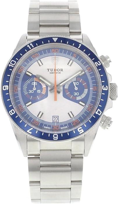 Tudor Patrimonio de la Hombres 42 mm Acero Pulsera y Caso automático analógico Reloj 70330b
