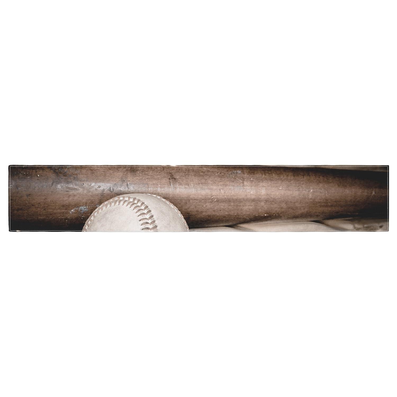 Kess InHouse Debbra Obertanec Play Ball Baseball Table Runner