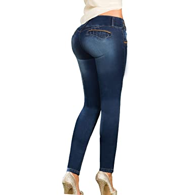 4ac0a3e3c39 Aranza Low Rise Skinny Butt Lifting Jeans Colombian Stretch Jeans for Women