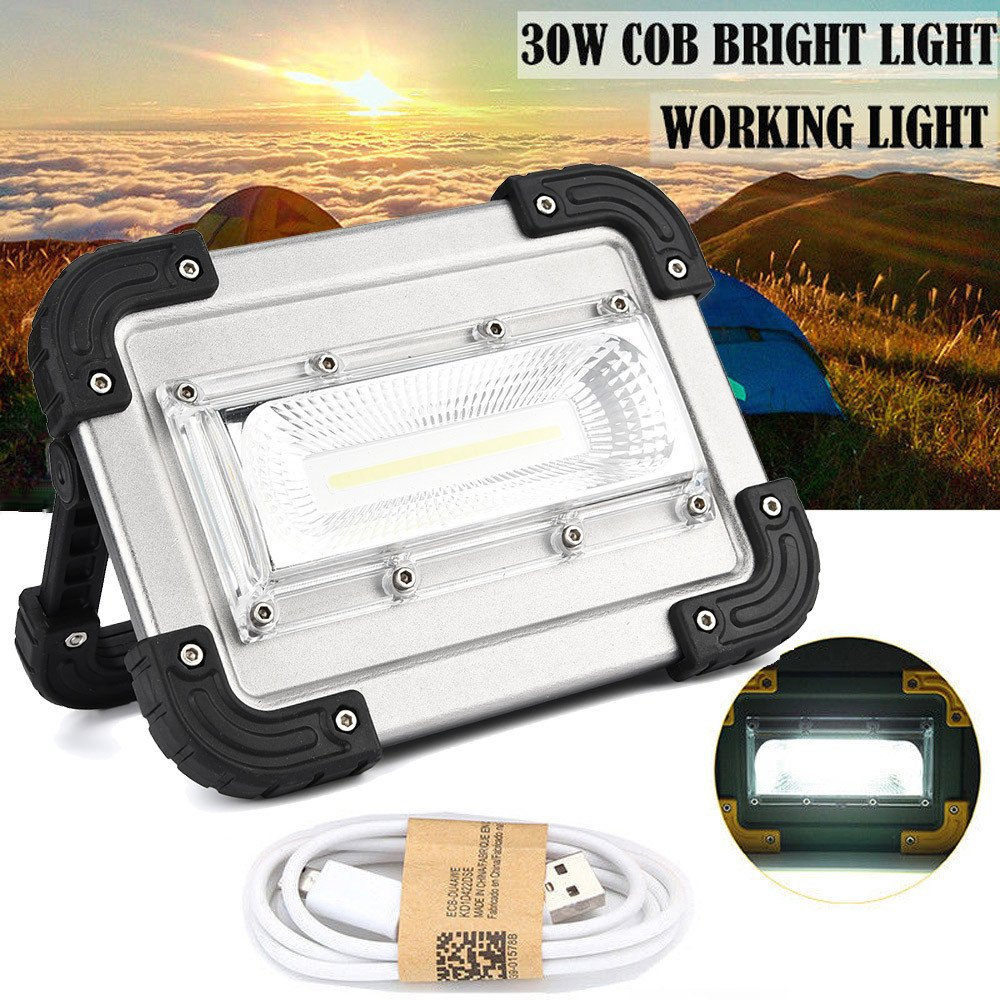 30W USB COB LED Portable Rechargeable Flood Light Spot Work Camping Outdoor Lamp by Dressffe by Dressffe (Image #5)