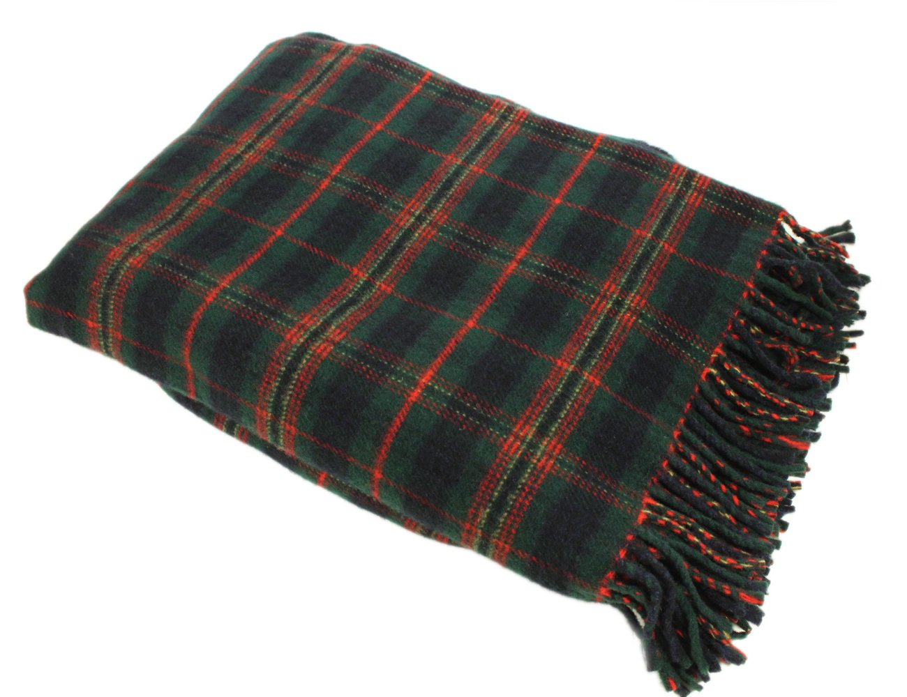 Kennedy Tartan Blanket 52'' x 70'' 100% Wool Irish Made by Kerry Woollen Mills