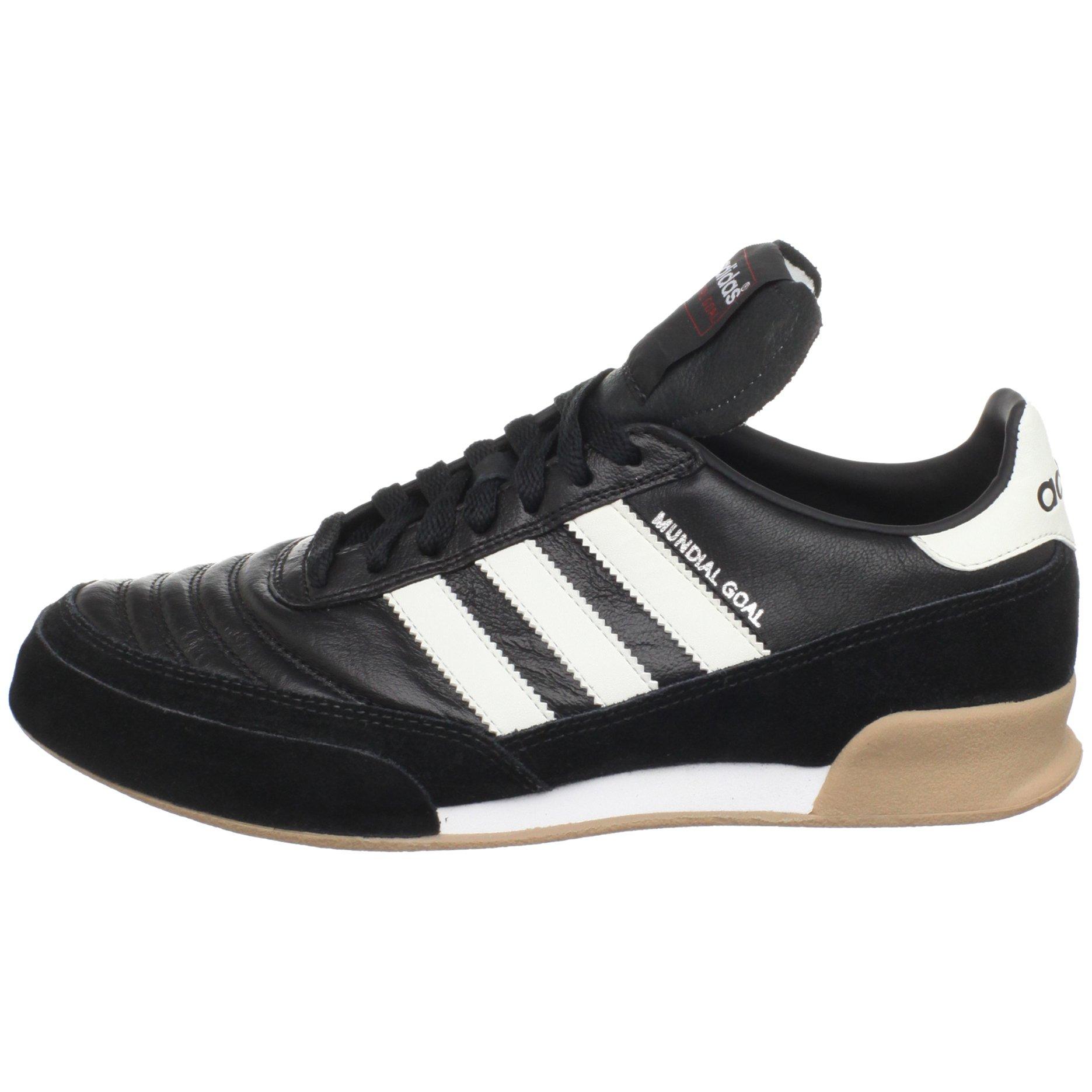adidas Men's Mundial Goal Soccer Cleat, Black/White/White, 5 M US by adidas (Image #5)