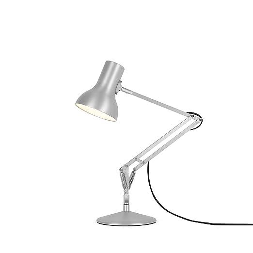Anglepoise Type 75 Mini Metallic Desk Lamp With Silver Lustre, Aluminium, Silver  Desk