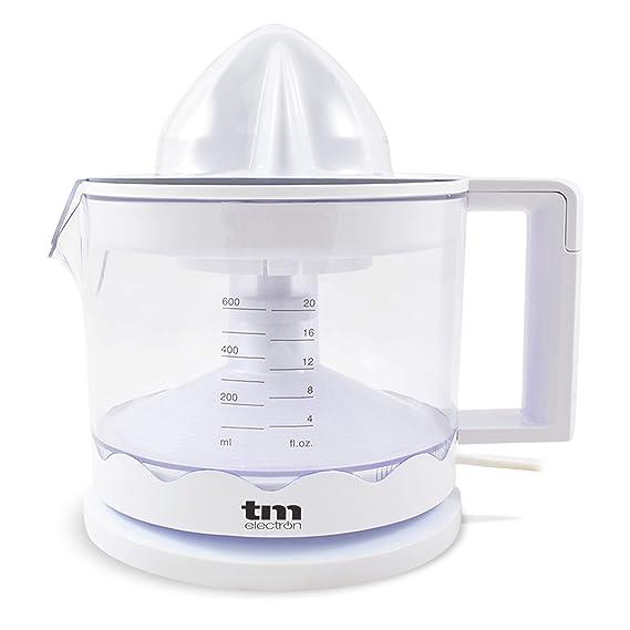 TM Electron TMPEX002 - Exprimidor de cítricos eléctrico para zumo con regulador de pulpa y fácil limpieza, 30 W, color blanco: Amazon.es: Hogar