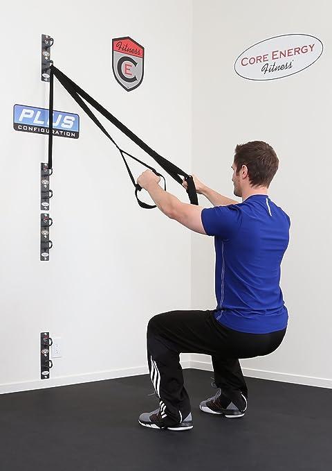 Anchor gym- Plus estación (cuatro anclajes de pared para ejercicio bandas de resistencia, suspensión correas, y formación cuerdas)
