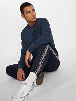 Mens Champion Comfort Tech Poly Elastic Cuff Pants In Navy