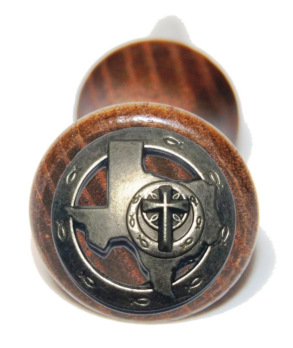 Custom Texas Christian Ichthys wine bottle stopper