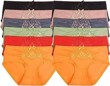Uni Style Apparel - Bragas de bikini (12 unidades, algodón ...
