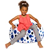 Posh Creations Bean Bag Chair for Kids, Teens, and Adults Includes Removable and Machine Washable Cover, 27in - Medium, Canva