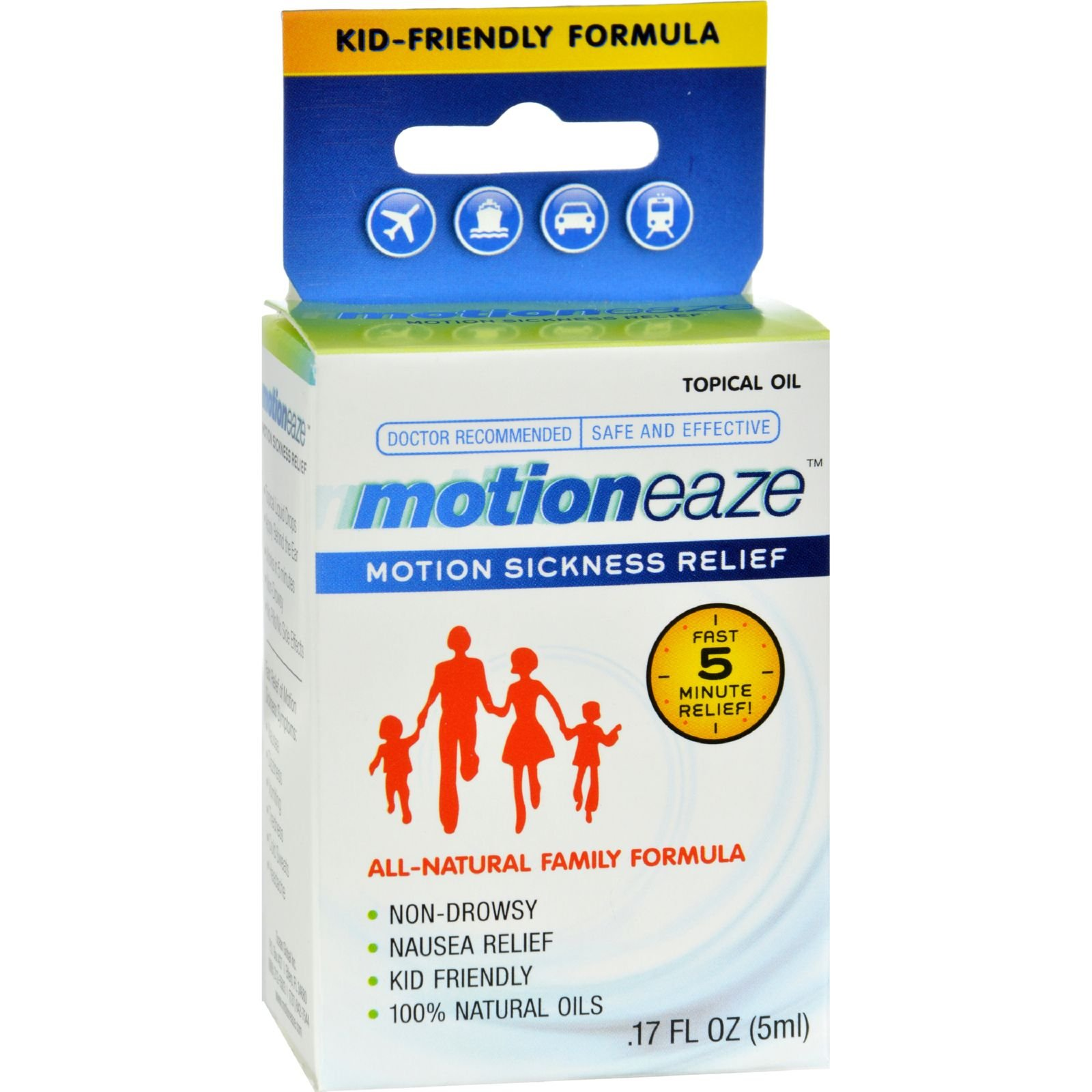 2Pack! Motioneaze Motion Sickness Relief - Case of 6 - 5 ml