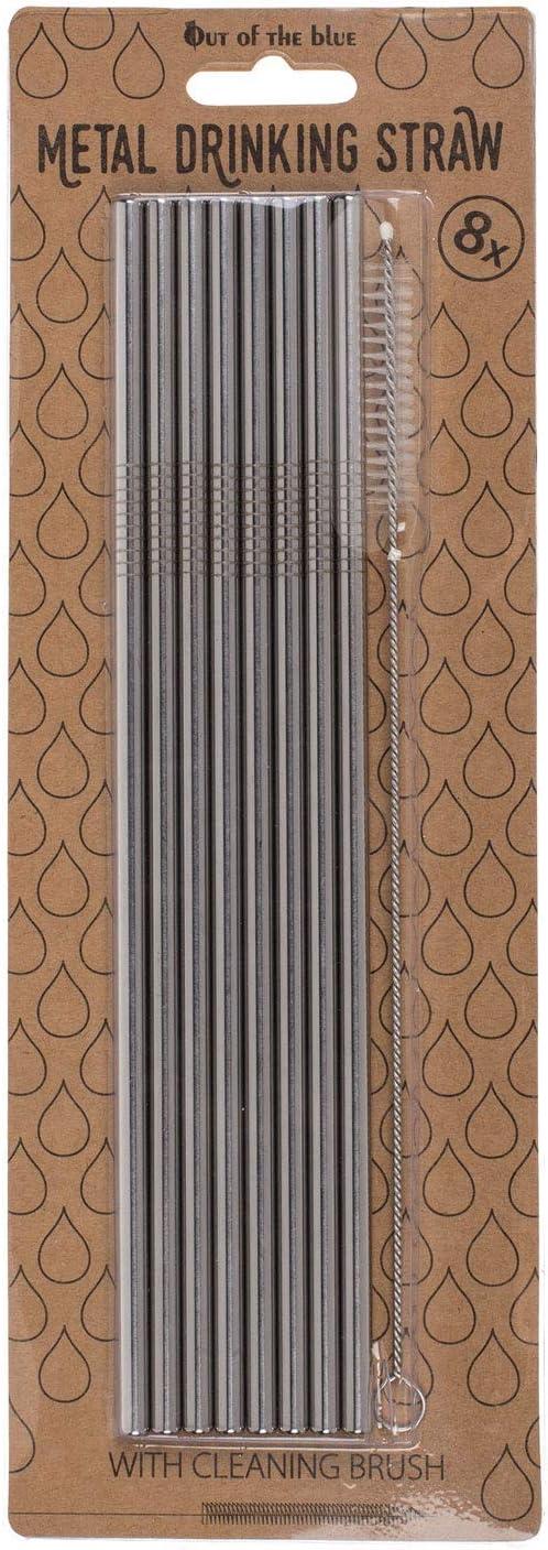 Durchmesser ca 4 mm L/änge ca 8 St/ück KMC Austria Design Trinkhalme aus Edelstahl mit Reinigungsb/ürste 23,5 cm f/ür warme und kalte Getr/änke