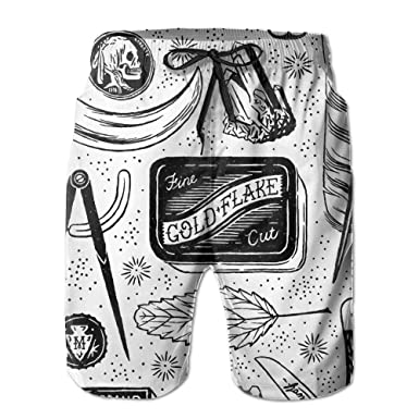 Amazon.com: Doppyee Explorers Stuff Printing Mens Yoga Board Short, Soft Short Swimming Beach Pants,Surf Sweat Pants With Pockets: Clothing