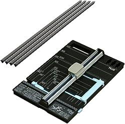 プラス 裁断機 スライドカッター ハンブンコ A4 + 専用カッターマット (受木) セット