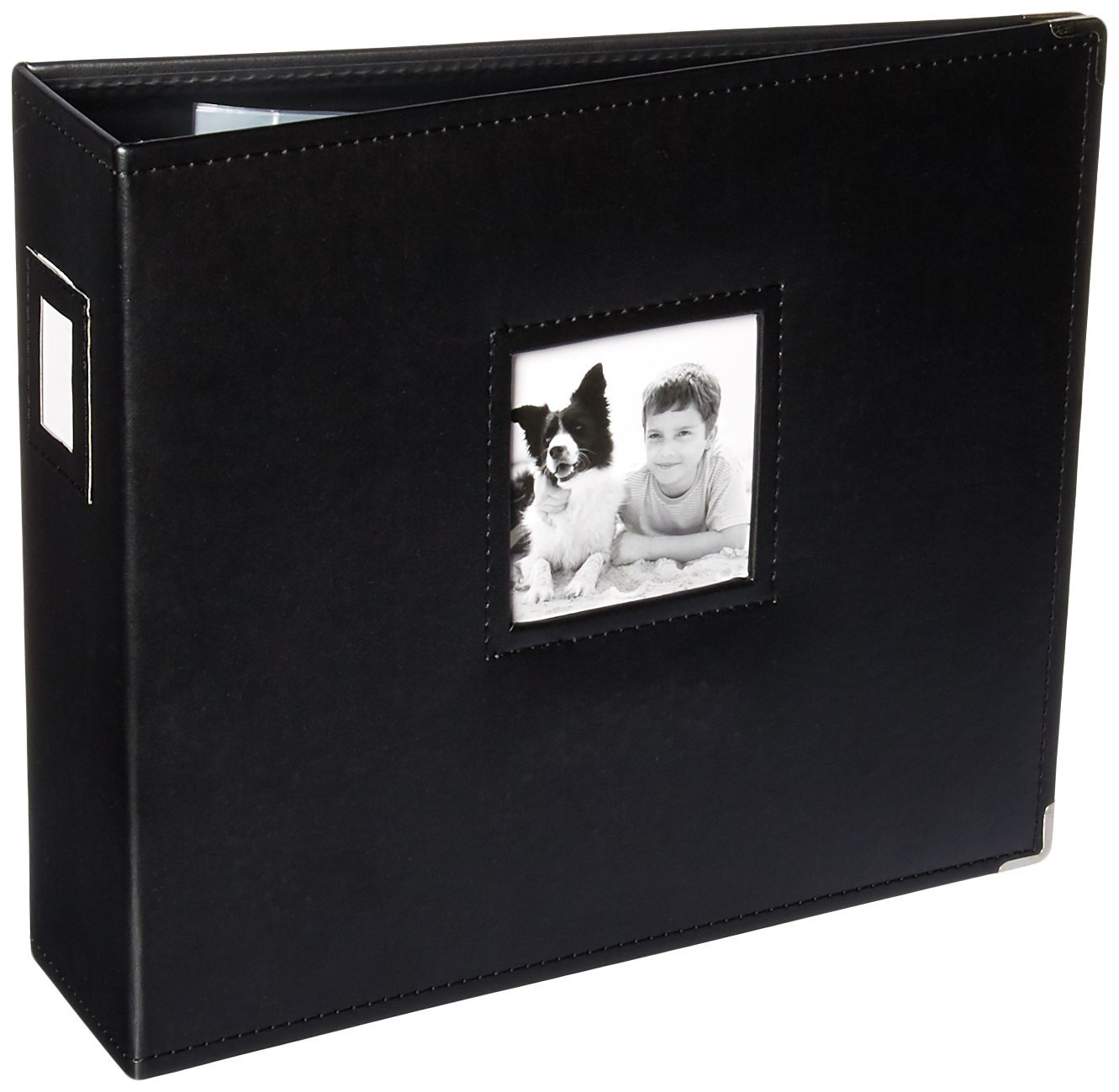K&Company 30-705968 15.5'' x 13'' Black D-Ring Binder Album