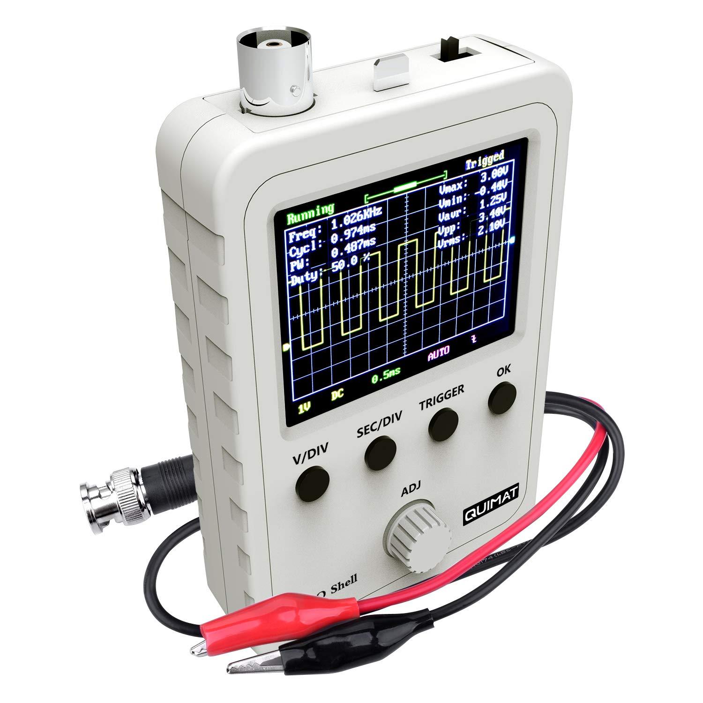 Quimat 2.4TFT デジタル オシロスコープ(組立完成品) 0-200KHz 5mV/Div-20V/Div感度 プローブ付き 9V DC DSOオシロスコープ Q15001