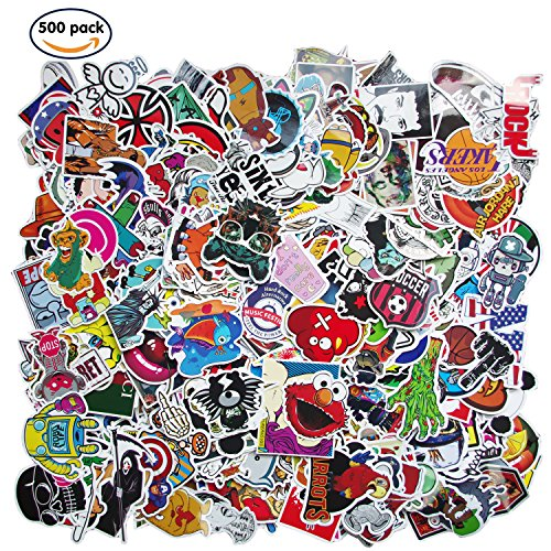 Future Stickers 500 pcs Laptop Stickers Car Motorcycle Bicycle Luggage Decal Graffiti Patches Skateboard Stickers for Laptop - No-Duplicate Sticker Pack