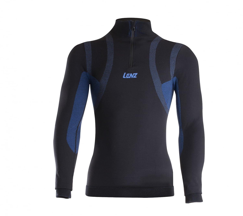 Lenz Longsleeve Men 3.0 Funktionsbekleidung, Black/Cobalt