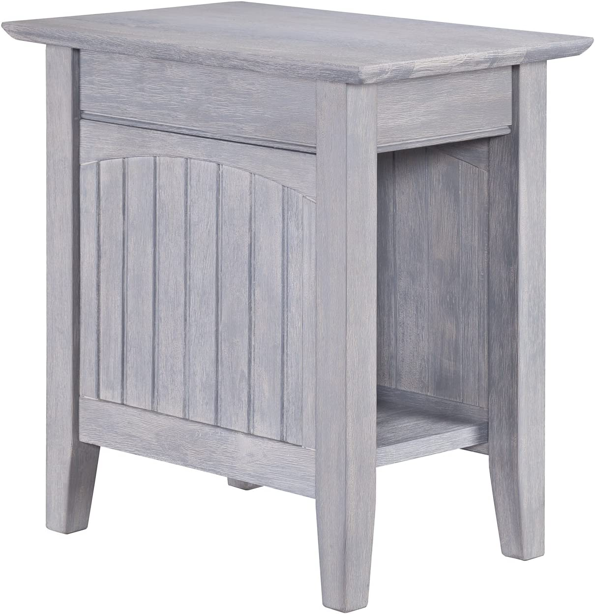 Atlantic Furniture Nantucket Chair Side Table, Driftwood