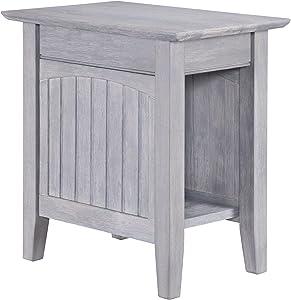 Atlantic Furniture Nantucket Chair Side Table, Driftwood