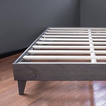 Amazon Com Eluxurysupply Wood Platform Bed Frame Solid