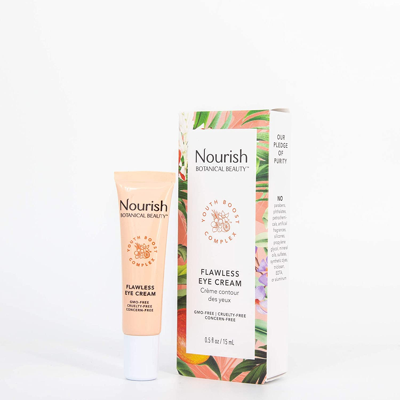 Nourish Botanical Beauty | Flawless Eye Cream | GMO-Free, Cruelty Free, 100% Vegan (0.5oz)