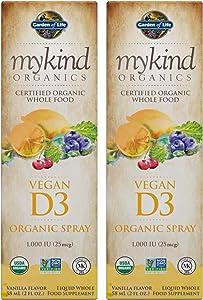Whole Food Vegan D3 Spray 1,000 IU (25mcg) Vanilla Flavor Non-GMO Liquid Whole Food Supplement (58 ML / 2 FL OZ) Pack of 2