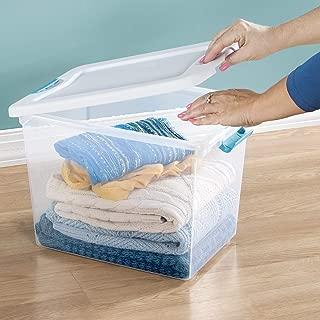 product image for Sterilite 25 Qt./24 L Latching Box Clears, Quart, White, 6 Piece