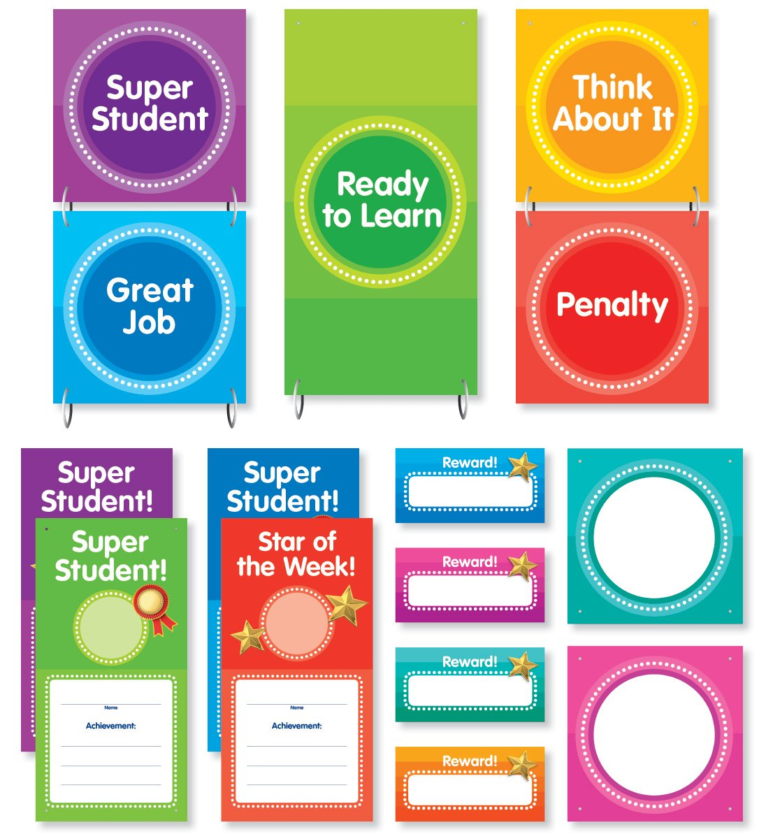 Color Your Classroom: Behavior Clip Chart Mini Bulletin Board ...