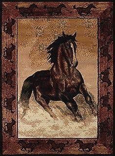 Amazoncom HORSE collage pony Area RUG floor mat western decor