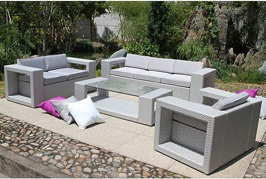 Flowuzz Garden - Salon de jardin et table basse - PVC-MED ...