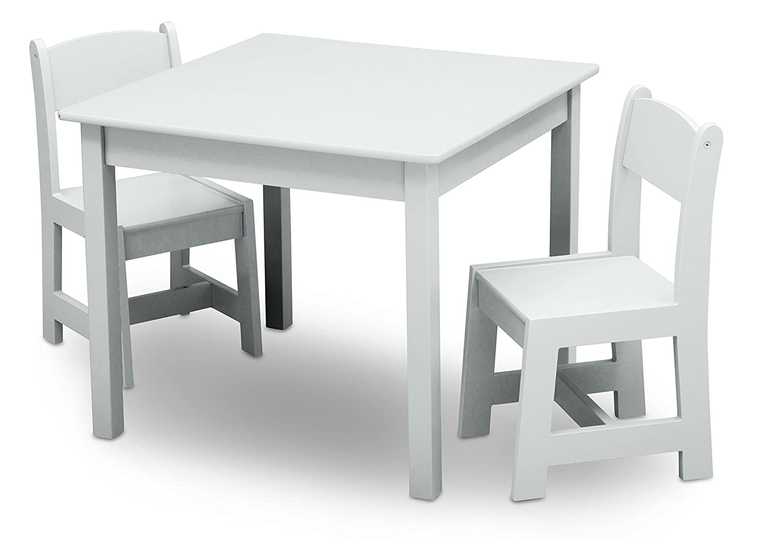Delta Children Painted Wooden Child's Table and Chair Set (White) Delta Children Products TT89601GN-130