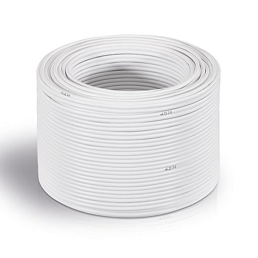 37 opinioni per MANAX® cable del altavoz 2 x 0,75 mm² blanco 50,0 m anillo