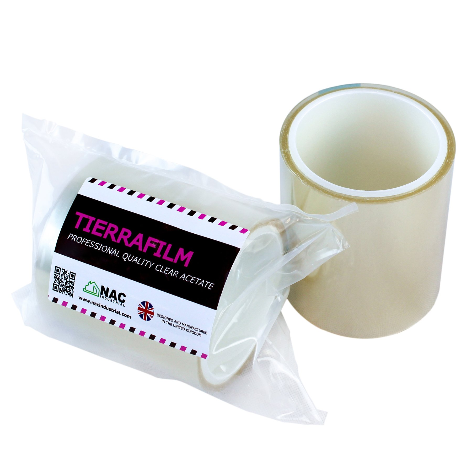 TIERRAFILM Cake Collar, Chocolate and Cake Decorating Acetate Sheet CLEAR ACETATE ROLL - Various Sizes (3'' x 16 feet 125 micron)