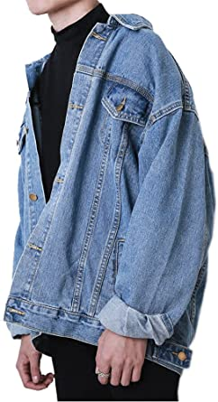 SportsX Mens Lapel Casual Fitted Button Down Trucker Denim Vests