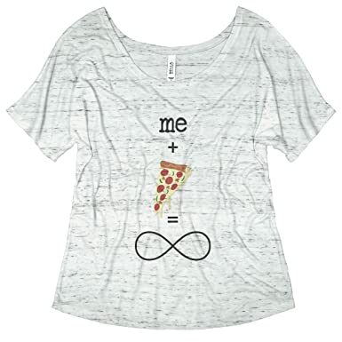 dd79e233 Me Plus Pizza Forever: Bella Ladies Flowy Slouchy Tee at Amazon ...